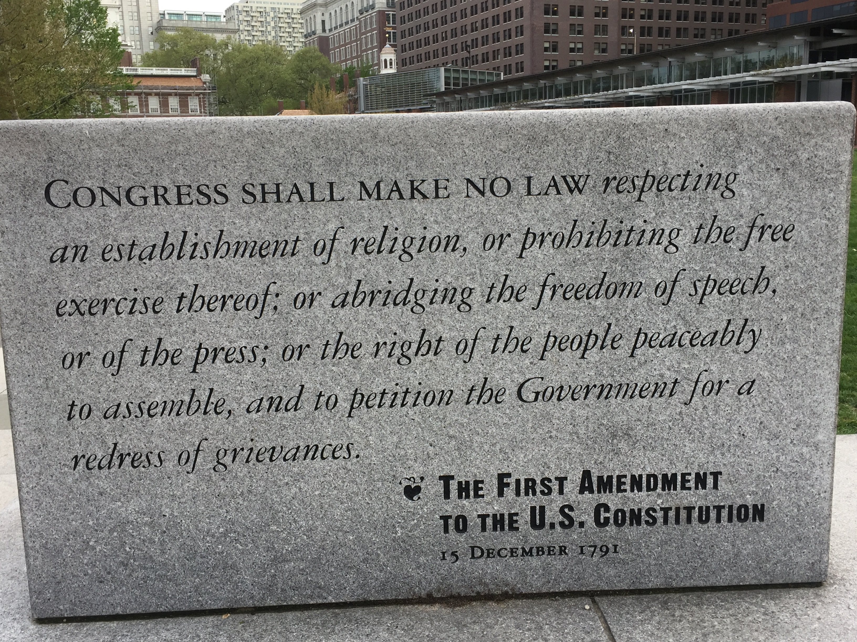 1st Amendment - Liberty Bell Center, Philadelphia, 2017-04