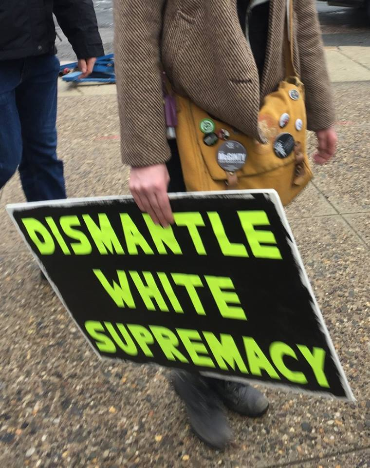 Dismantle White Supremacy - Women's March Philadelphia, 2017-01-21