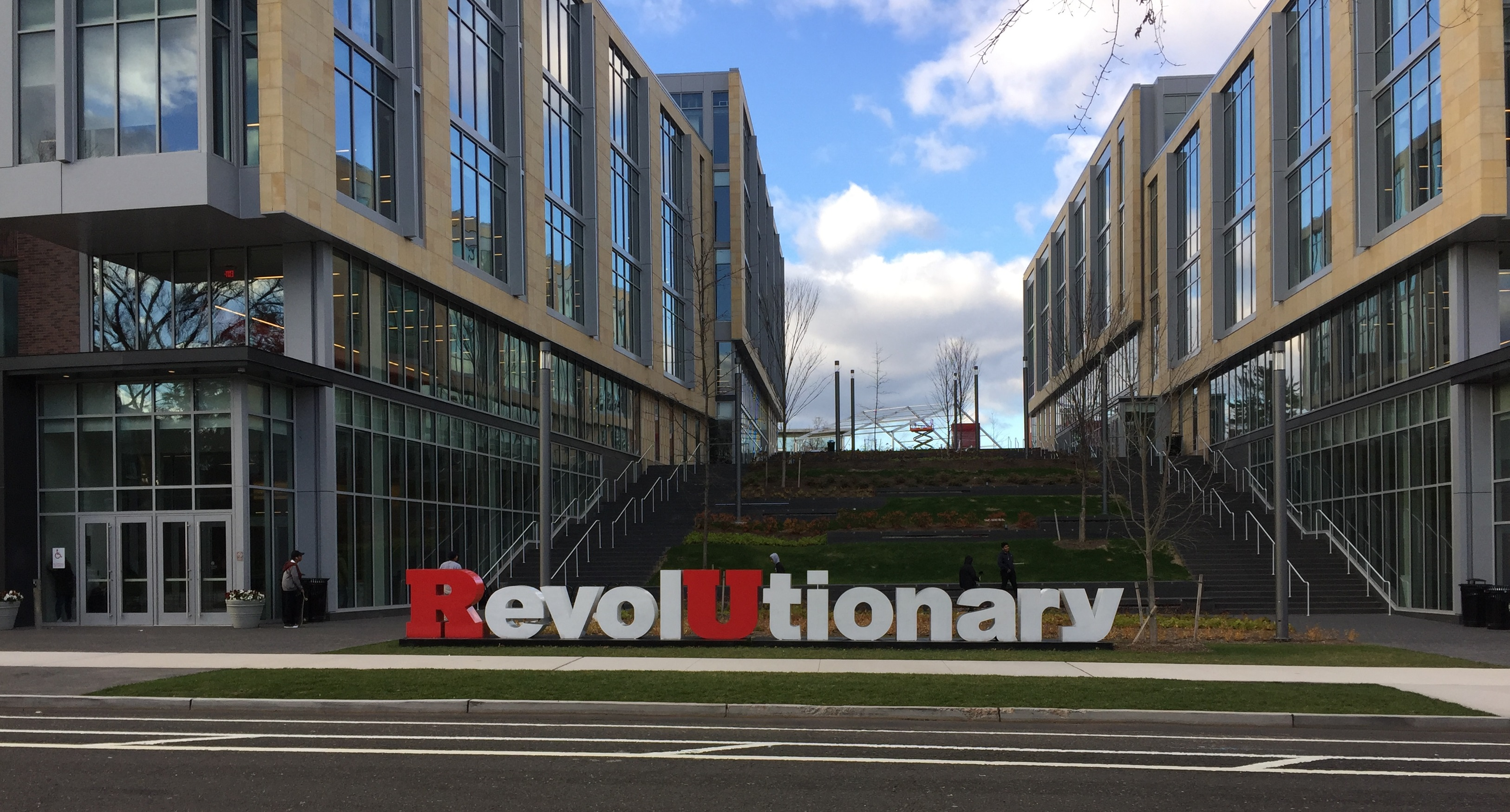 """RevolUtionary"" sculpture at Rutgers University, Dec 2016"
