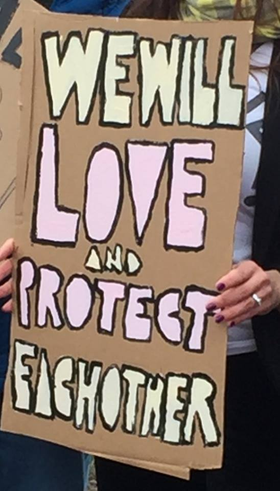 We Will Love and Protect Each Other - Women's March, Philadelphia, 2017-01-21