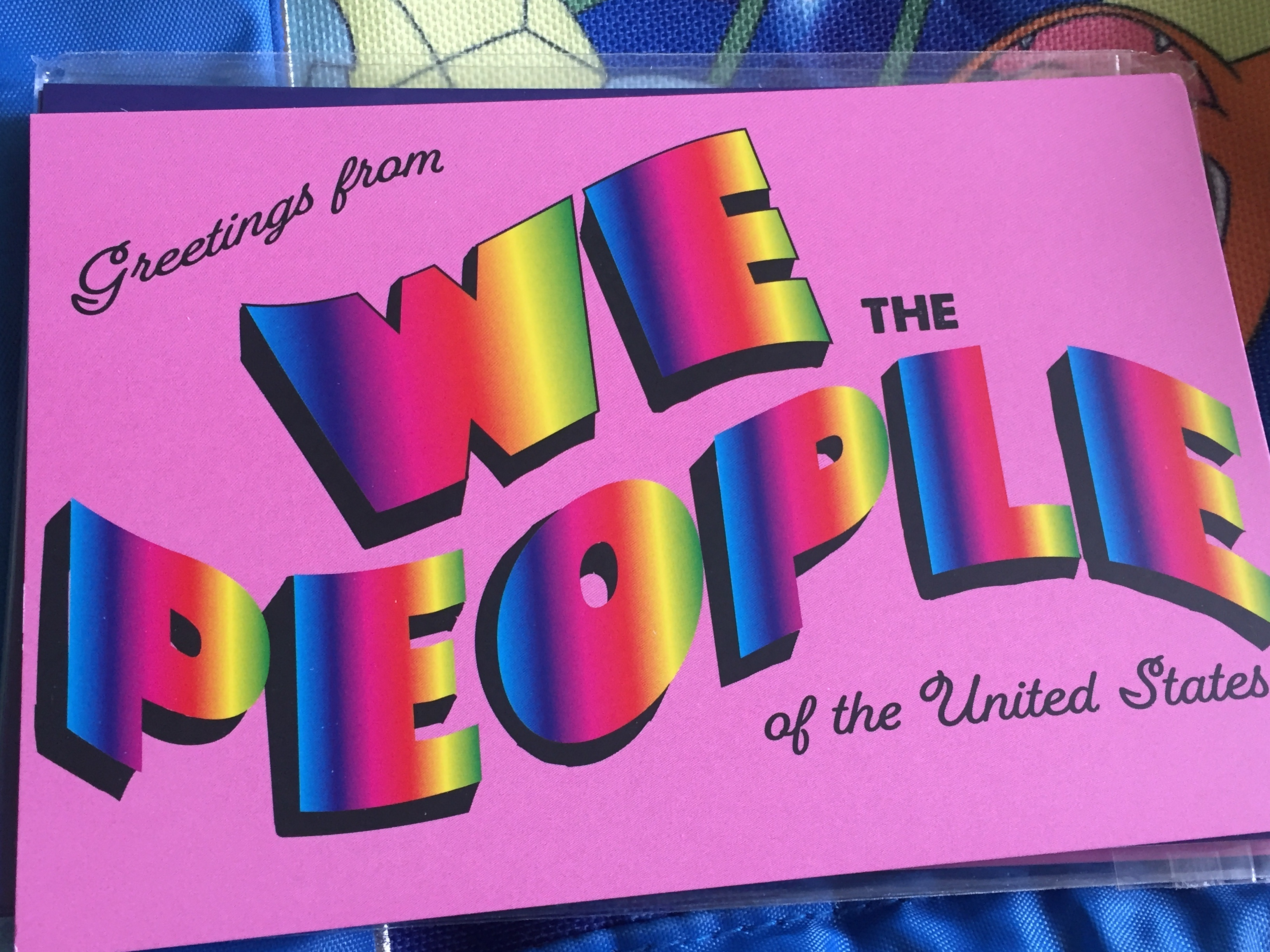 We the People poscard by Wendy Sheridan