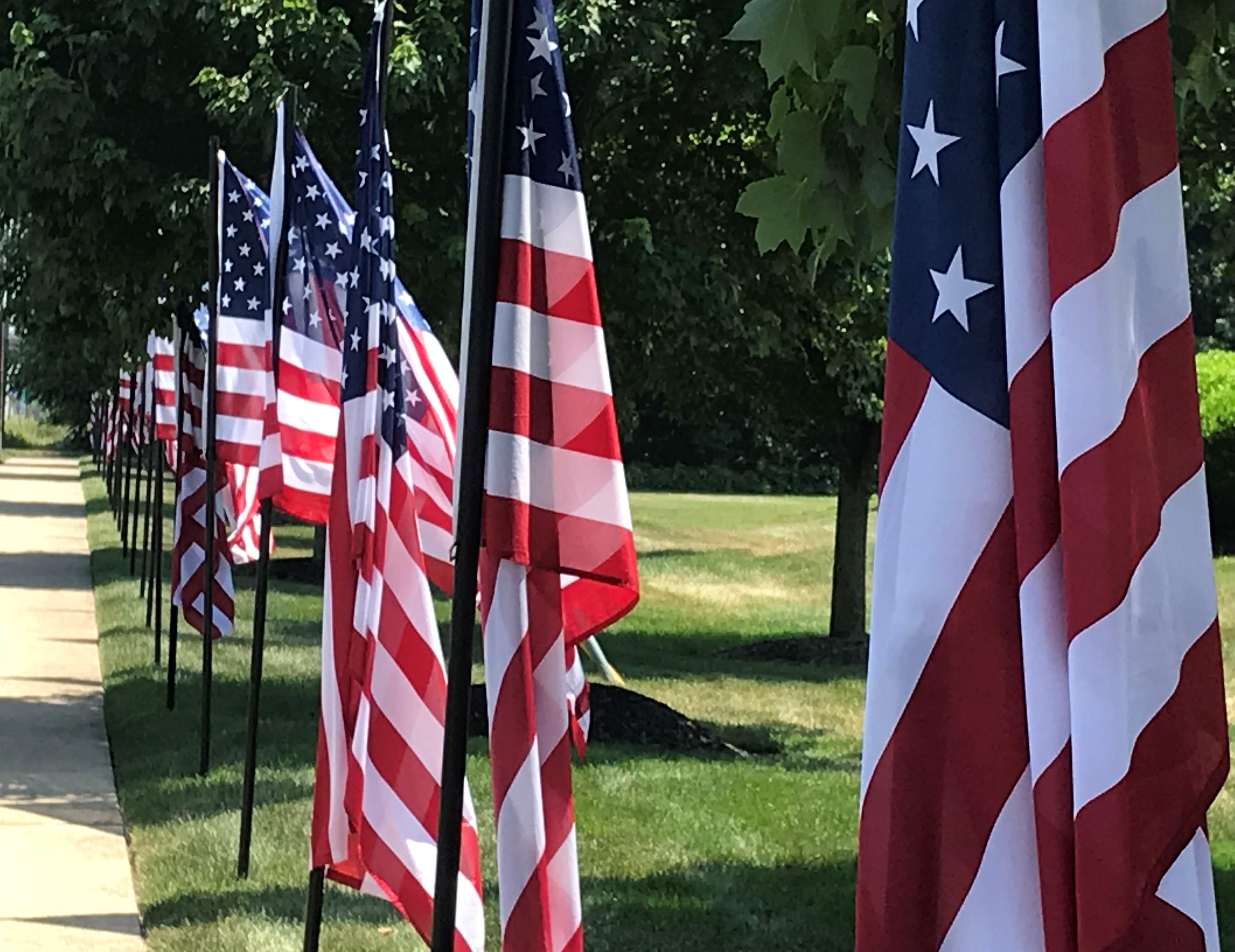 American flags in Berlin, NJ - photo by Robin Renée