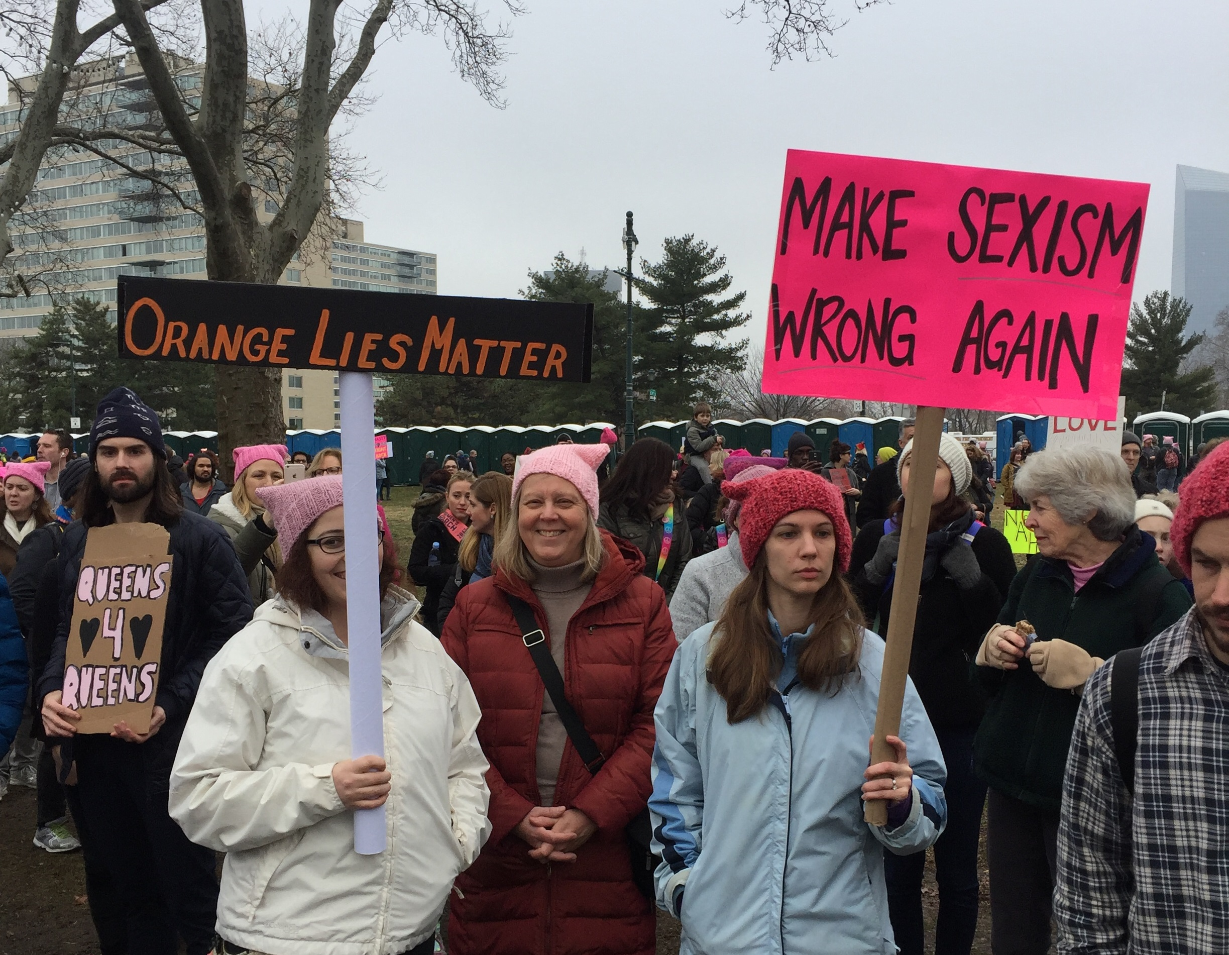 Make Sexism Wrong Again, Women's March, Philadelphia, January 21, 2018 - Photo by Robin Renée