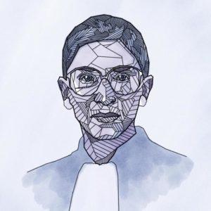 Ruth Bader Ginsburg - Artwork by Mitch Boyer