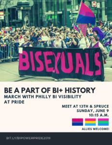 Philly Bi Visibility Pride 2019