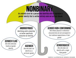 Nonbinary graphic - umbrella terms