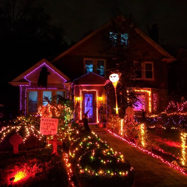 Halloween house lights