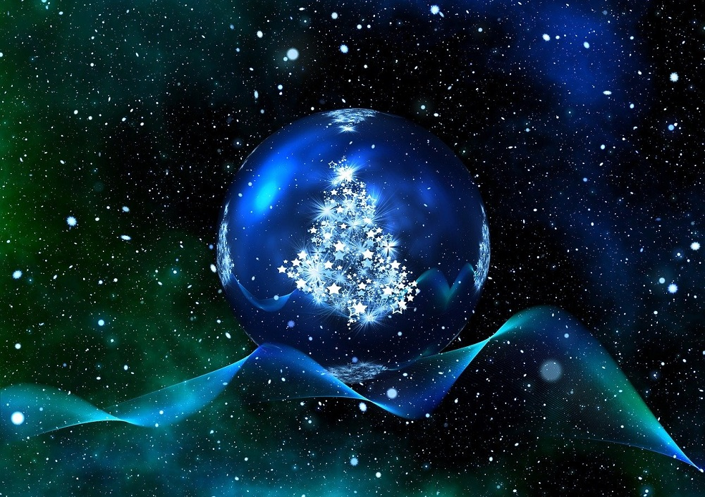 blue Christmas holiday cosmicdecoration