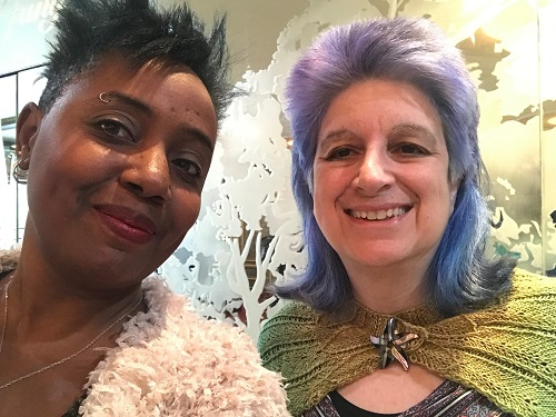 Robin Renee and Wendy Sheridan at PFLAG Queens Awards Luncheon, 2020-02-02