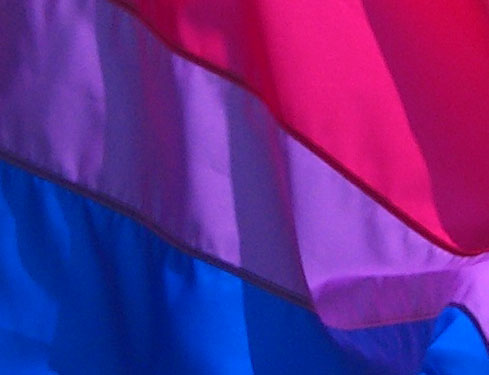 bi pride flag, Flickr photo by marymactavish