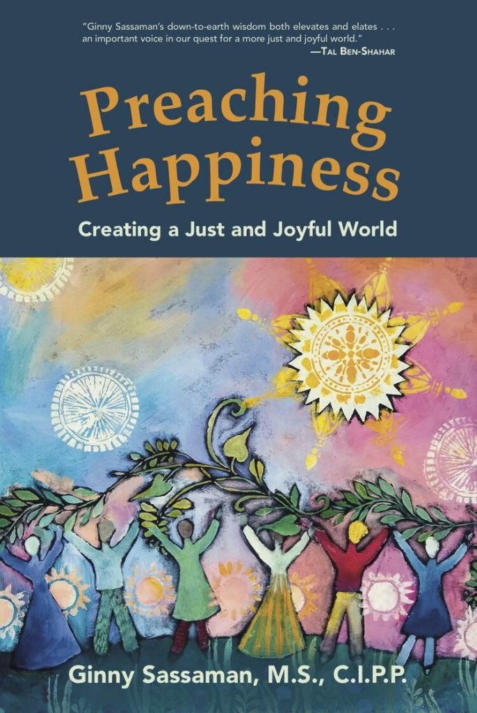 Preaching Happiness book cover - Ginny Sassaman
