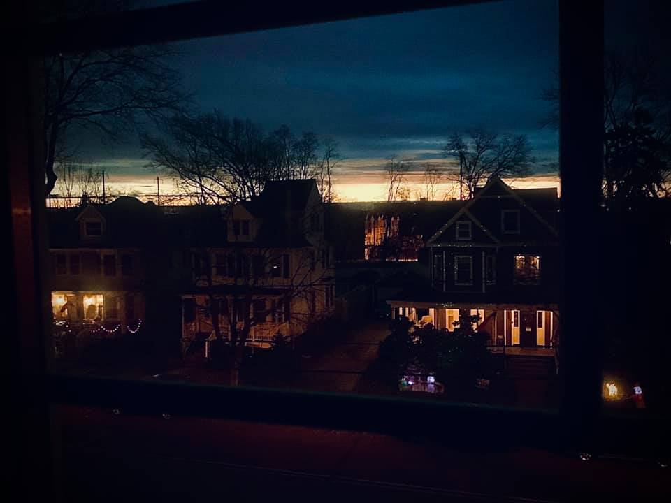 houses and sky at dawn