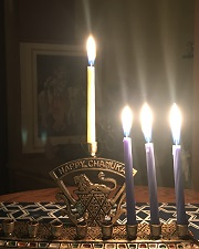 menorah, third night candles lit