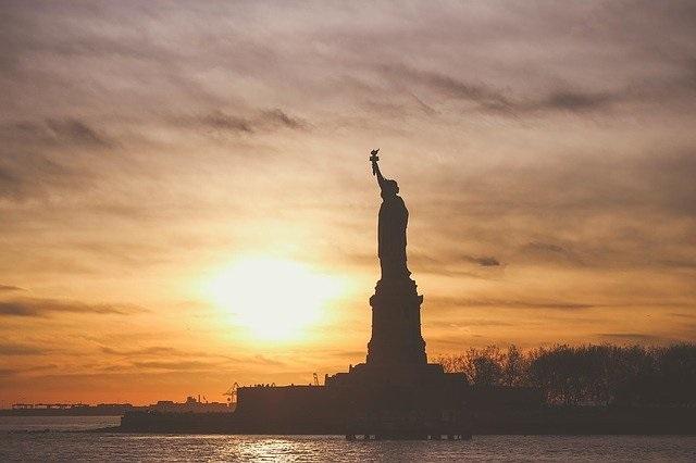 Statue of Liberty near sunset