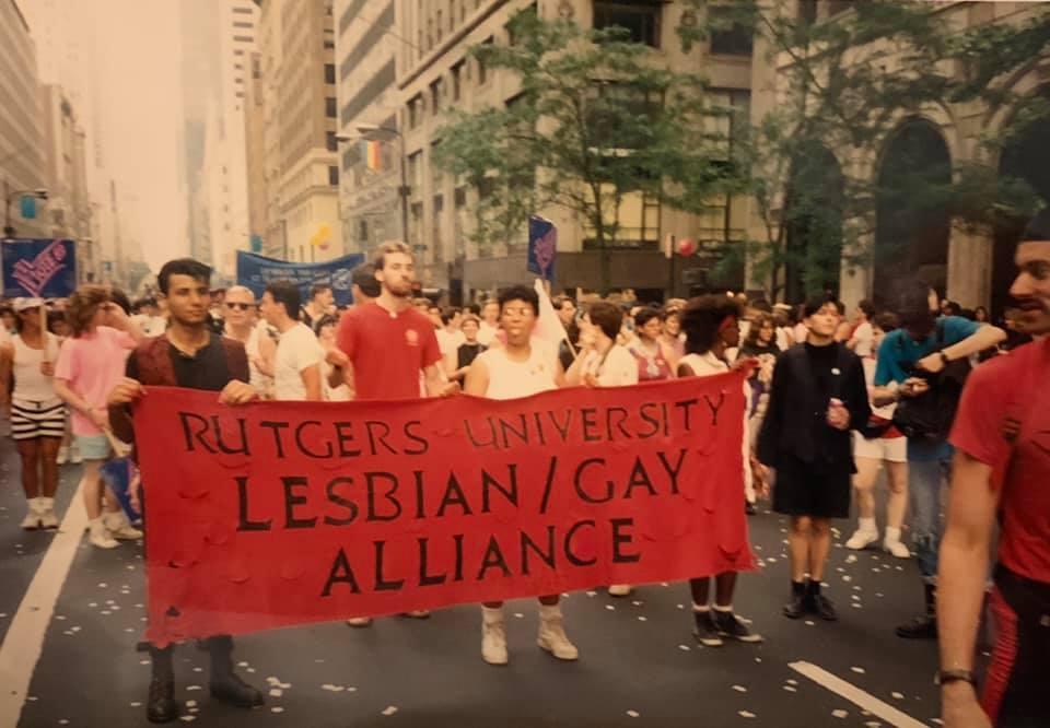 Rutgers University Lesbian/Gay Alliance at NYC Pride 1989