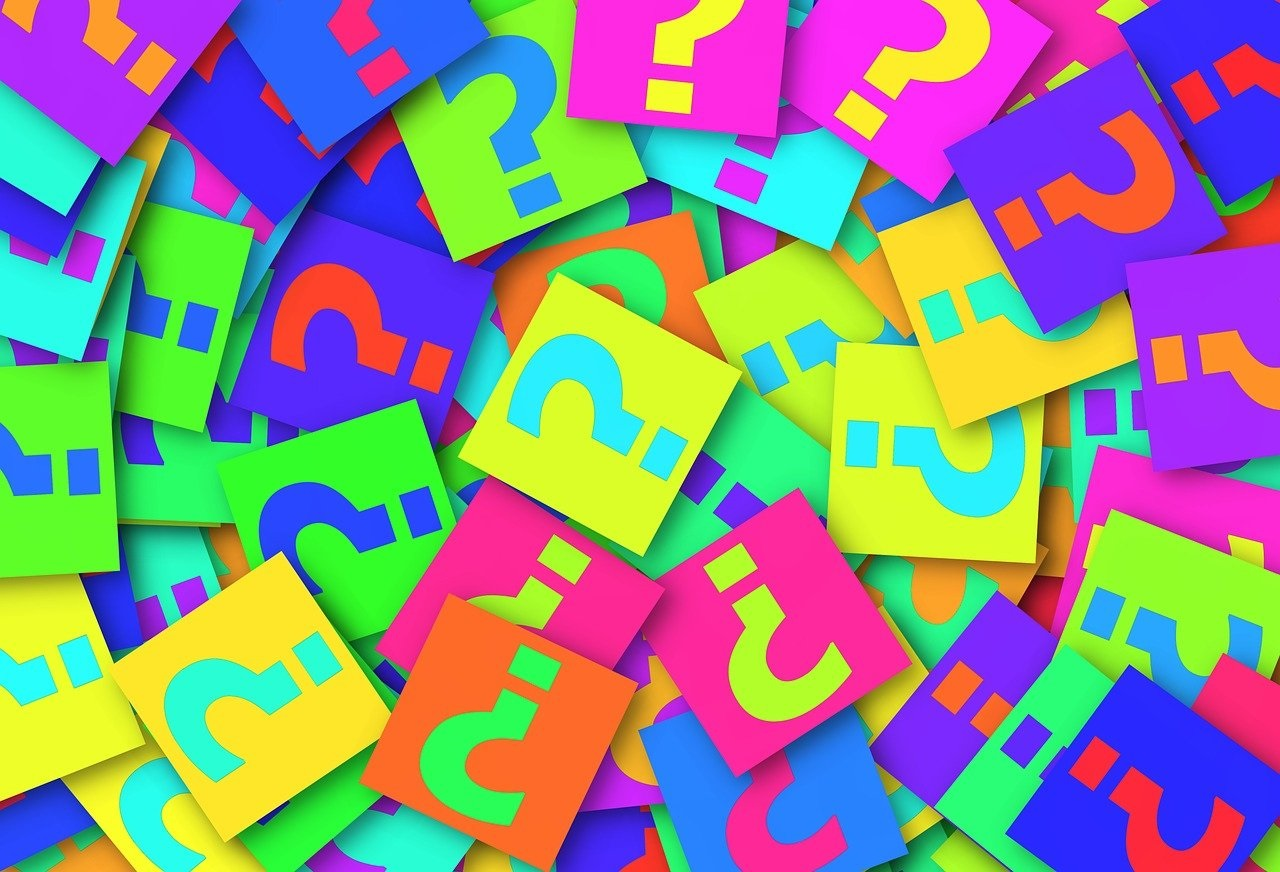 colorful question marks
