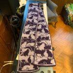 Wendy Sheridan's cat scarf