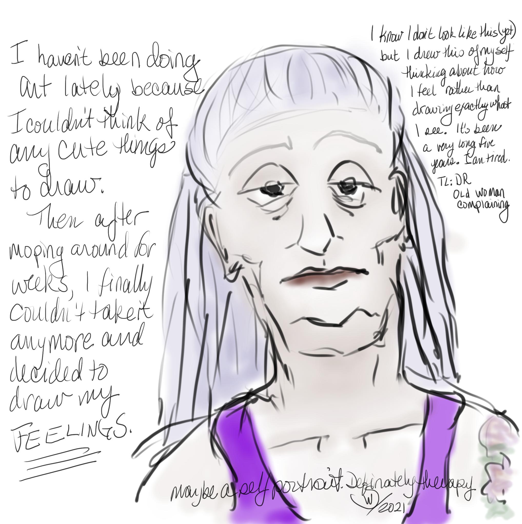 Wendy Sheridan drawing of feelings