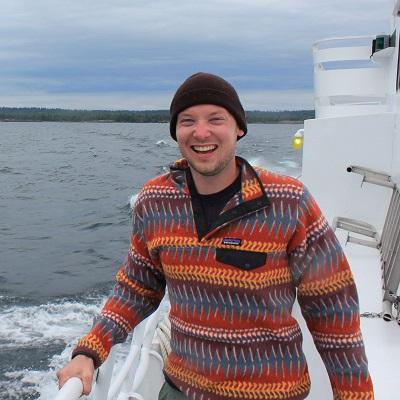 John Leman on a boat